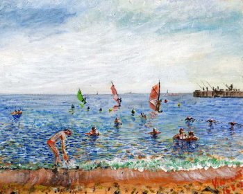 Poblenou Beach Barcelona, 2002, Reproduction de Tableau