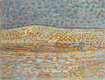 Pointillist Dune Study, Crest at Left, 1909 Reproduction de Tableau