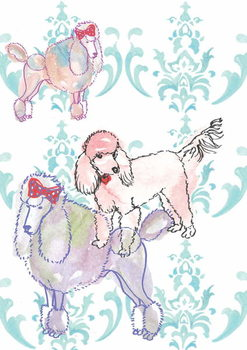 Poodles, 2013 Reproduction de Tableau