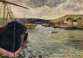 Port at Rouen Kunstdruck