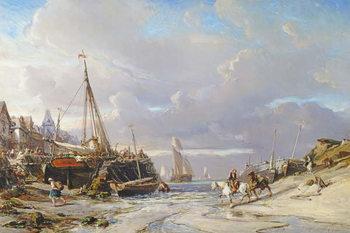 Port en Bretagne, 1861 Kunstdruck
