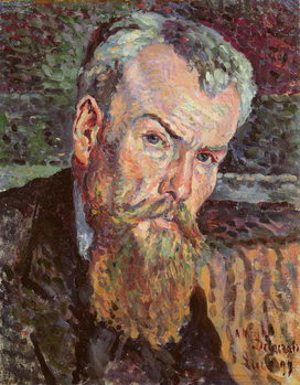 Portrait of Henri Edmond Cross (1856-1910) 1898 (oil on canvas) (detail) Kunstdruk