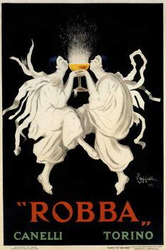 Poster advertising Spumante Robba Canelli Kunstdruck