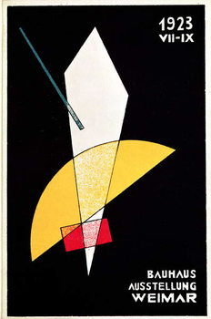Poster for a Bauhaus exhibition in Weimar, Germany, 1923 Obrazová reprodukcia