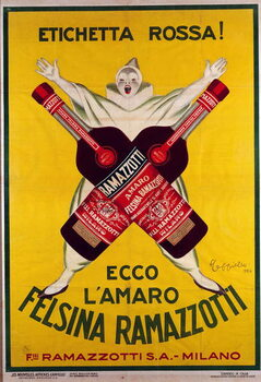 poster for the drink  Amaro (Amer) felsina Ramazzotti, 1926 Kunstdruk