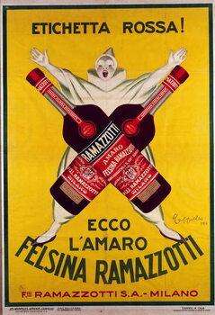 Reproducción de arte poster for the drink  Amaro (Amer) felsina Ramazzotti, 1926
