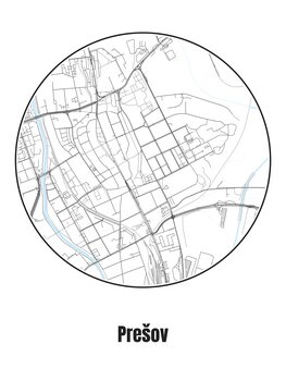 Mapa de Prešov