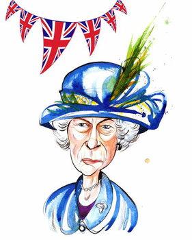 Reproducción de arte Queen Elizabeth II  2012, by Neale Osborne