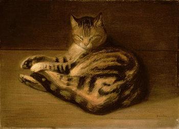 Reproducción de arte Recumbent Cat, 1898