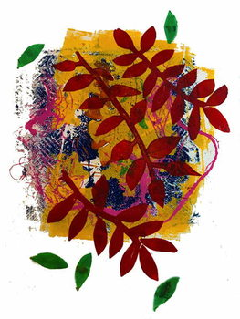 Red leaves Kunstdruck