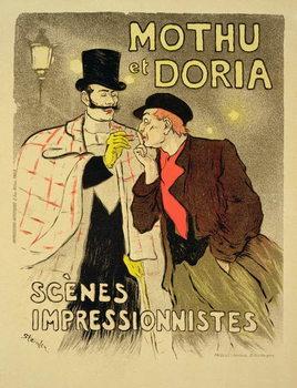 Reproducción de arte Reproduction of a poster advertising 'Mothu and Doria'in impressionist scenes, 1893