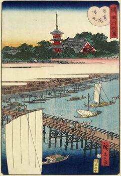 Returning Sails at Azuma Bridge, November 1861 Kunstdruk
