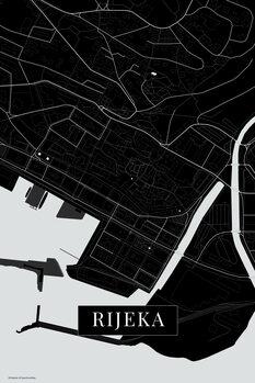 Mapa de Rijeka balck