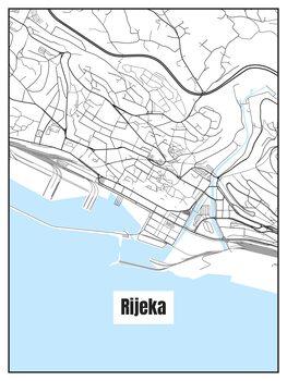 Mapa de Rijeka