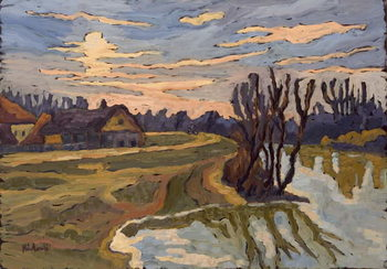 Road into Dusk, 2004 Kunsttryk