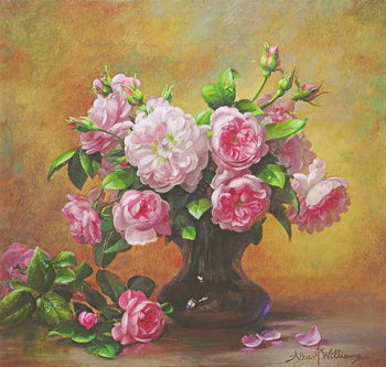 Roses of Sweet Scent and Velvet Touch Kunstdruk