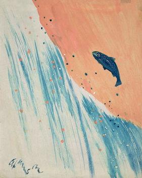 Reproducción de arte Salmon Leap