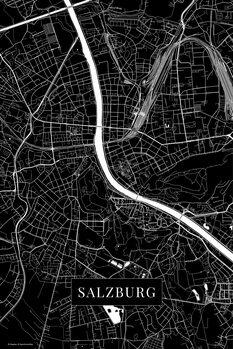 Mapa Salzburg black