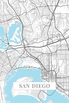 Stadtkarte San Diego white