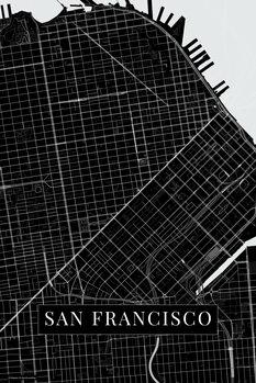 Stadtkarte San Francisco black