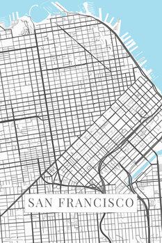 Stadtkarte San Francisco white