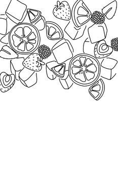 Ilustración Sangria line art