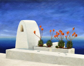 Santorini 11, 2010 Kunstdruck