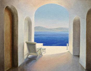 Santorini 9 Kunstdruck