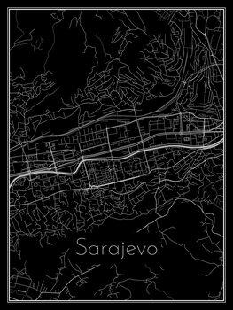 Kaart van Sarajevo