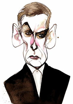 Scottish actor and film director Peter Capaldi ; caricature Obrazová reprodukcia