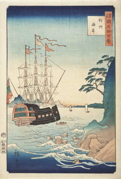 Reproducción de arte Seashore in Taishū from the Series One Hundred Views of Celebrated Places in Various Provinces, c.1850
