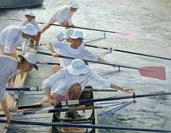 Securing Oars, Henley Reproduction de Tableau
