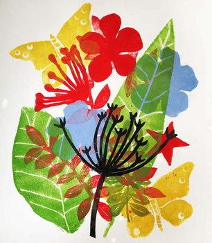 Reproducción de arte Seeded and flowers, 2019