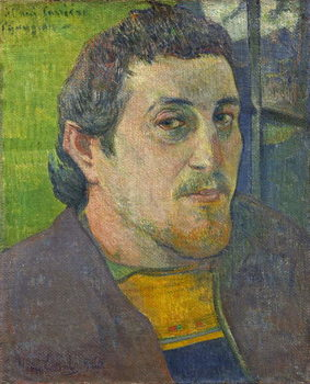 Self Portrait dedicated to Carriere, 1888-1889 Reproduction de Tableau