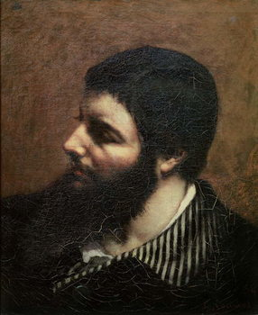 Self Portrait with Striped Collar Kunstdruck