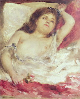 Semi-Nude Woman in Bed: The Rose, before 1872 Kunsttryk
