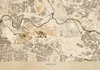 Mapa Sepia vintage map of Berlin
