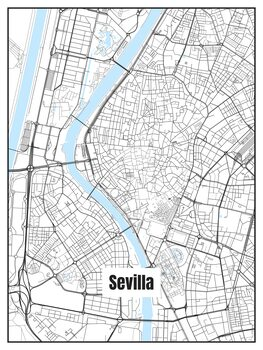 Stadtkarte von Sevilla
