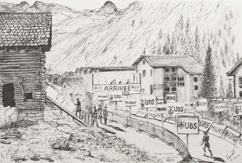Sierre to Zinal Mountain Race, The Finish, 2009, Kunstdruck