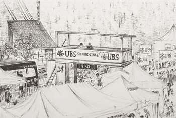 Sierre to Zinal Mountain Race, The Finish 2012. Kunstdruck