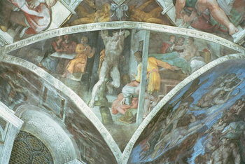 Sistine Chapel Ceiling: Haman (spandrel) Reproduction de Tableau