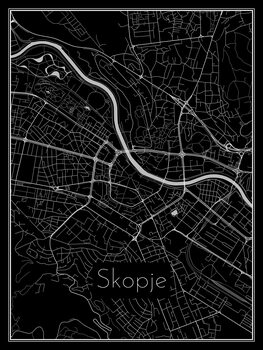 Mapa de Skopje