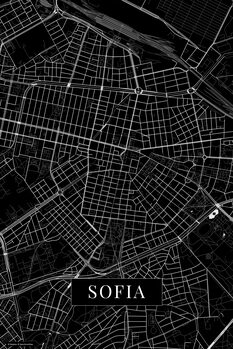 Stadtkarte von Sofia black