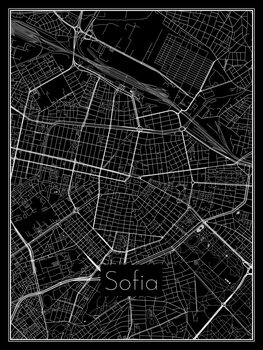 Kort over Sofia