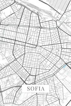 Stadtkarte von Sofia white