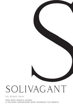 Ilustración Solivagant traveller definition
