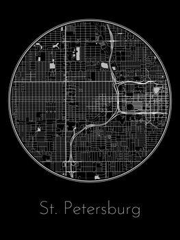 Kaart van St. Petersburg