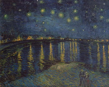 Reproducción de arte Starry Night over the Rhone, 1888