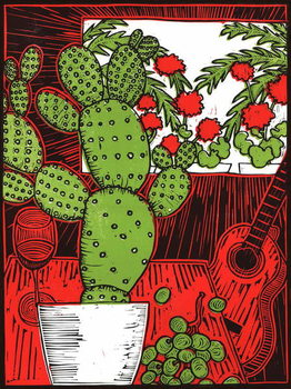 Still life with Cactus, 2014, Kunstdruk