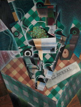 Still Life with Checked Tablecloth, 1915 Kunsttryk